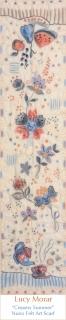 Creamy Summer / Nuno Felt Art Scarf