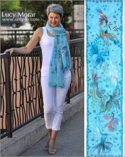 Dance In The Sky / Nuno Felt Art Scarf