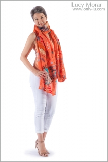 Joy of Flight / Nuno Felt Art Scarf