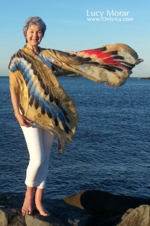 Wings / Nuno Felt Art Scarf