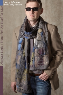 Abstract Logic / Nuno Felt Art Scarf for Man