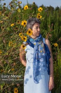 Blooming Meadow / Nuno Felt Art Scarf