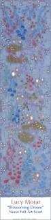 Blossoming Dream / Nuno Felt Art Scarf
