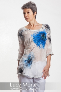 Loose Fit Top / Celestial Flowers