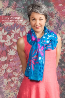 Cherry Blossoms / Nuno Felt Art Scarf