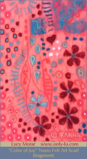 Color of Joy / Nuno Felt Art Scarf