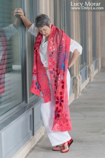 Color of Joy / Nuno Felt Art Scarf