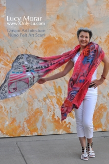 Dream Architecture / Nuno Felt Art Scarf