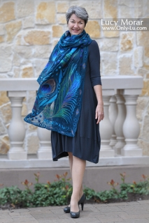 Enchanted Feather/ Nuno Felt Art Scarf