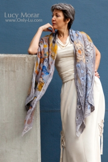 Fall and Winter / Nuno Felt Art Scarf