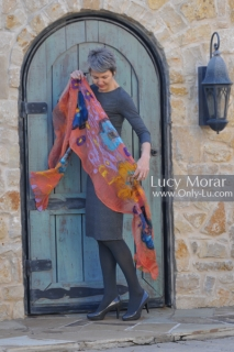 Flame of Life / Nuno Felt Art Scarf