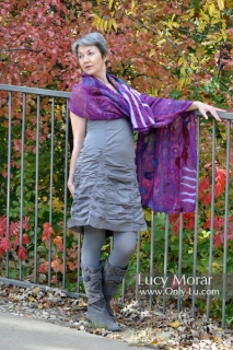 Flow of Imagination / Felt Art Scarf