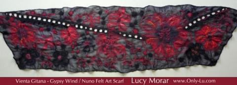 Gypsy Wind / Nuno Felt Art Scarf