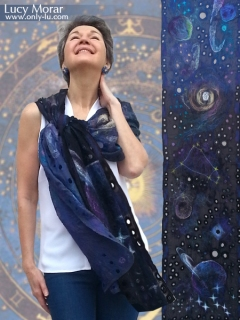 Interstellar / Nuno Felt Art Scarf