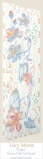 Lotus / Nuno Felt Art Scarf