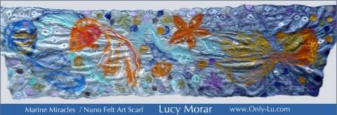 Marine Miracles / Nuno Felt Art Scarf