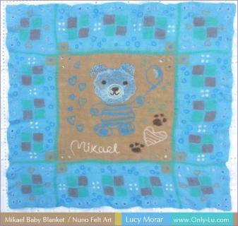 Mikael Baby Blanket / Nuno Felt Art / Nuno Felt Art