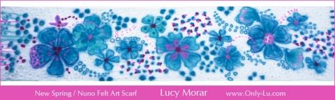New Spring / Nuno Felt Art Scarf