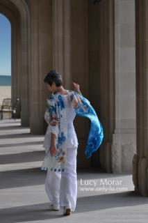 Ocean of dreams / Nuno Felt Art Scarf