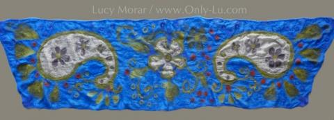 Royal Paisley / Nuno Felt Art Scarf