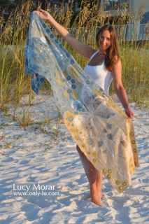 Summer Morning / Nuno Felt Art Scarf