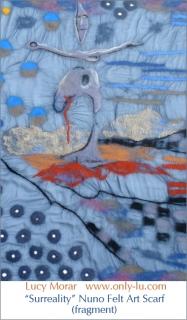 Surreality / Nuno Felt Art Scarf