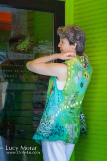 Twisted Lime / Nuno Felt Vest
