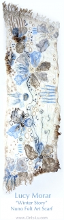 Winter Story / Nuno Felt Art Scarf