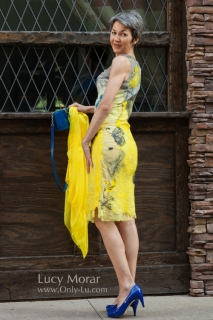 Yellow Dress / Nuno felt dress