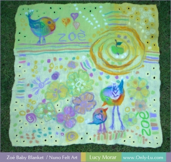 Zoé Baby Blanket / Nuno Felt Art